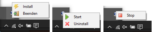 Service Control [with install, uninstall, run, stop, leave]